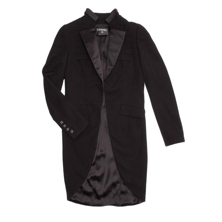 Chanel Black Tuxedo Jacket With Tails 2
