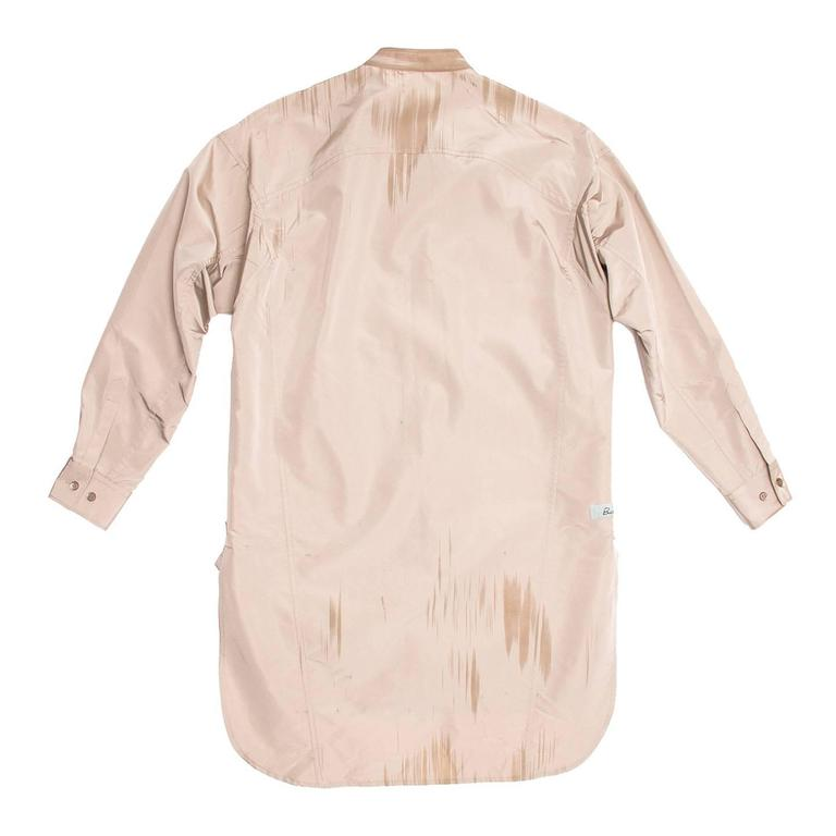Beige Prada Taupe & Paint Brush Detail Tunic For Sale