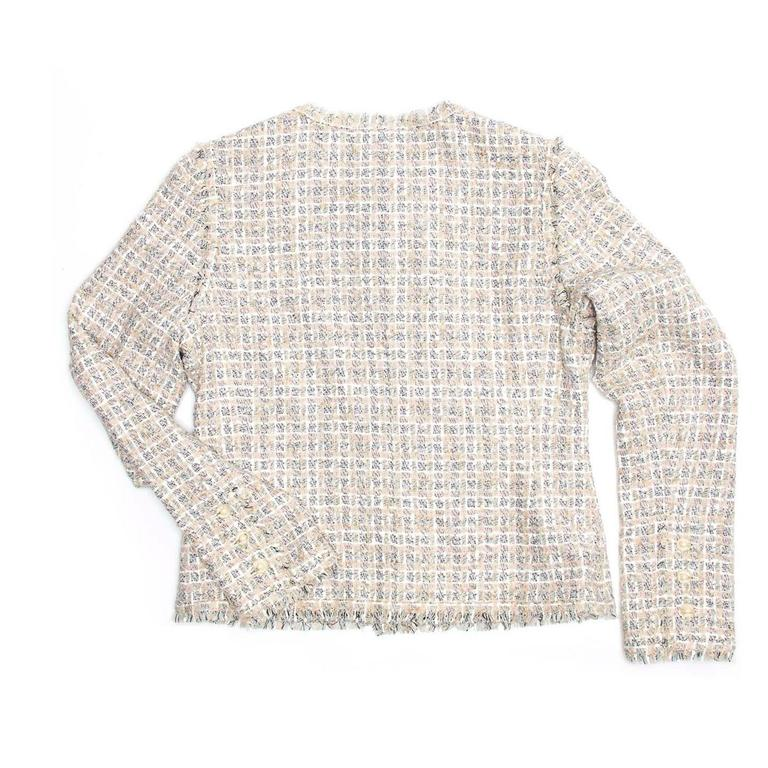 Chanel Multicolor Cotton Tweed Jacket 3