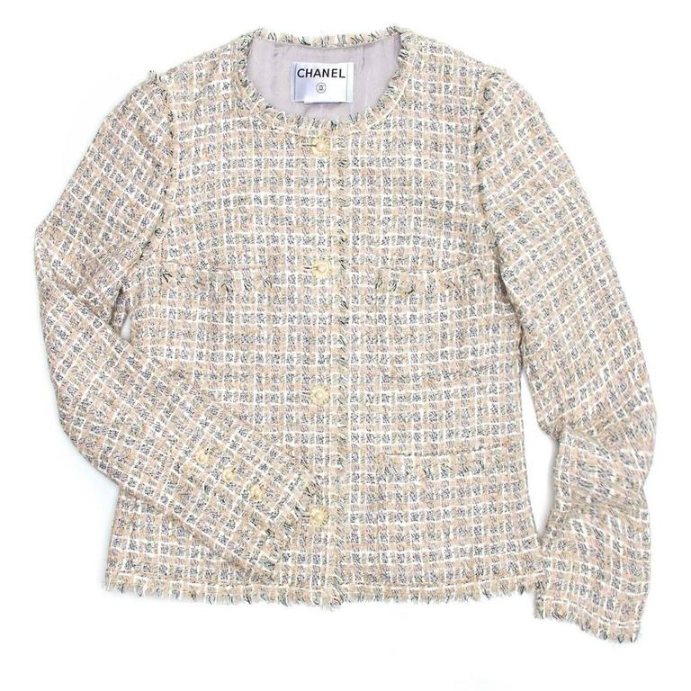 Chanel Multicolor Cotton Tweed Jacket 2