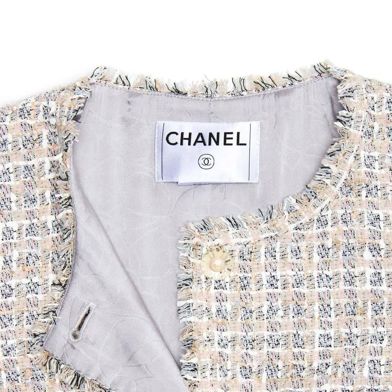 Chanel Multicolor Cotton Tweed Jacket 4