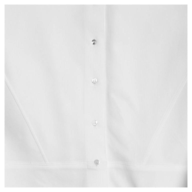 Alaïa White Twill Cotton Shirt For Sale 1