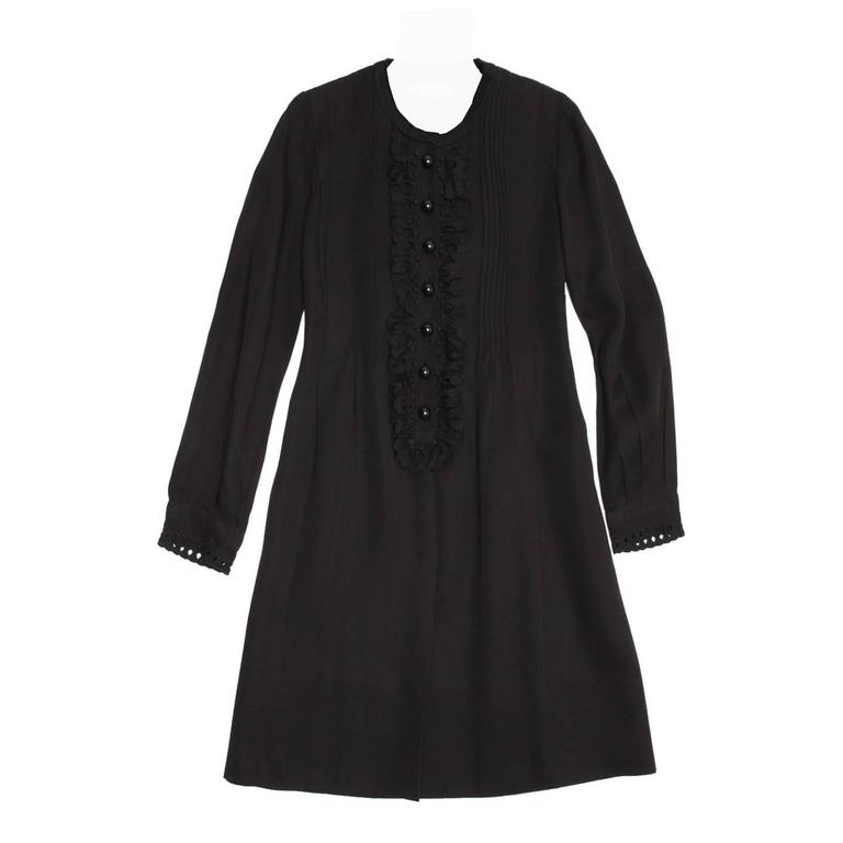 Chloe' Black Linen Dress For Sale