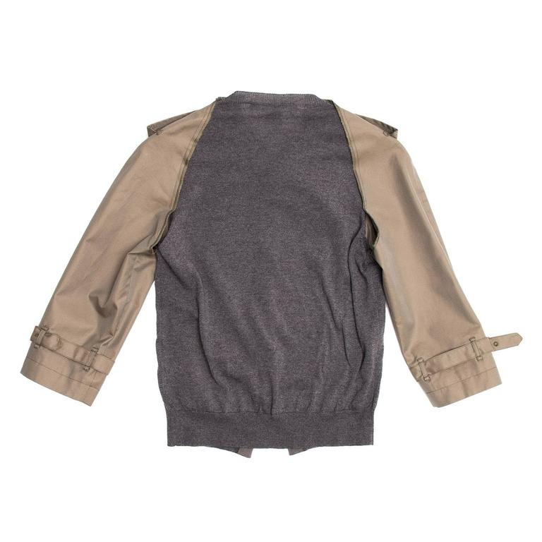 Comme des Garçons Olive & Grey Trench Style Jacket 5