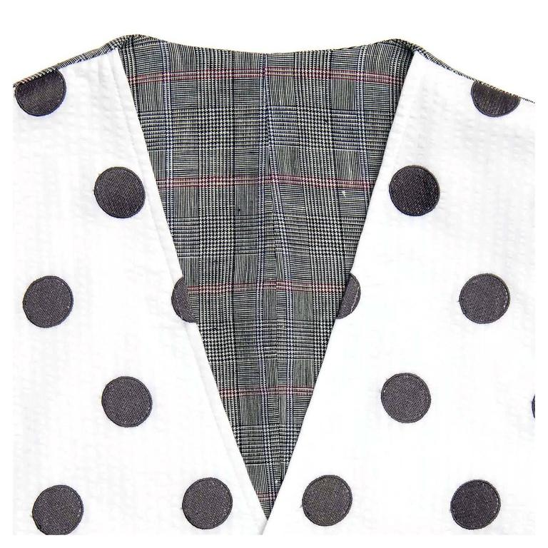 Women's or Men's Thom Browne White & Grey Polka Dot Vest For Sale