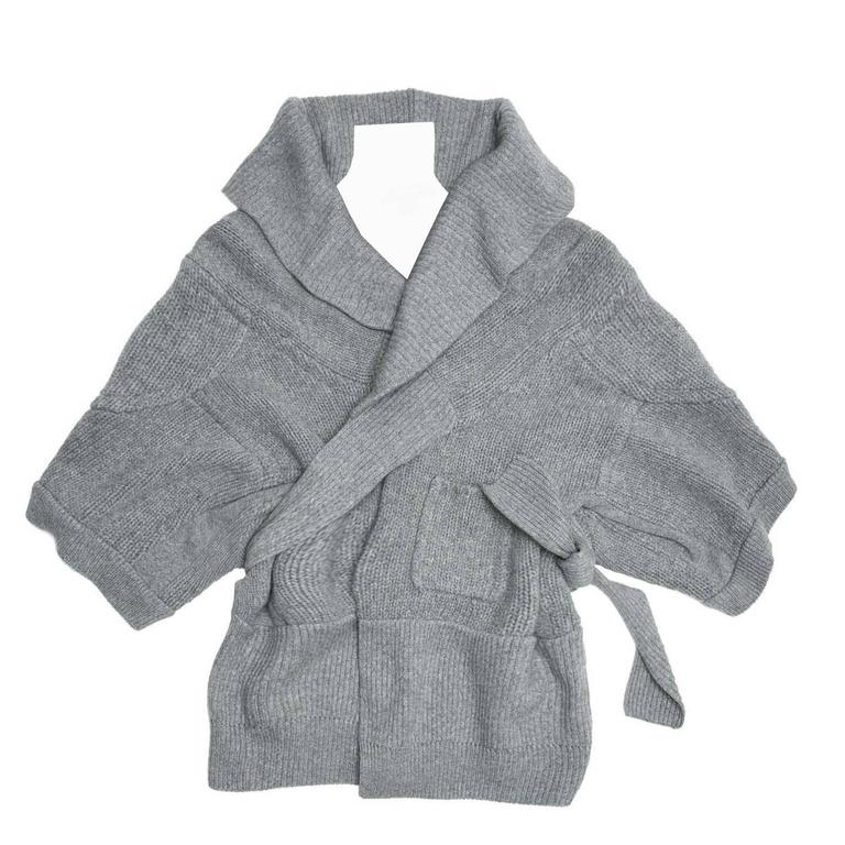 Louis Vuitton Grey Cashmere Wrap Cardigan