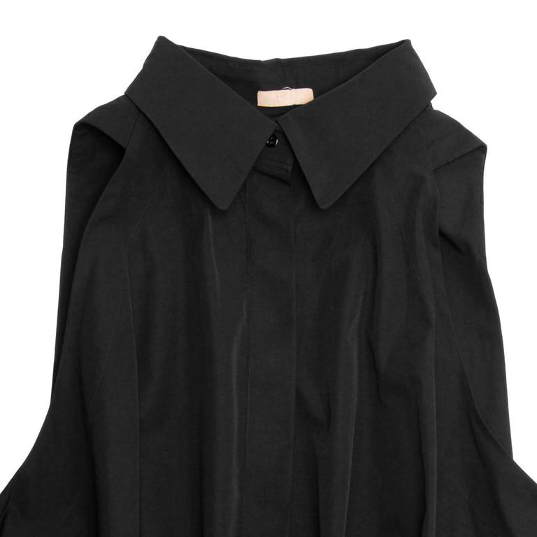 Alaïa Black Cotton Shirt Dress 4