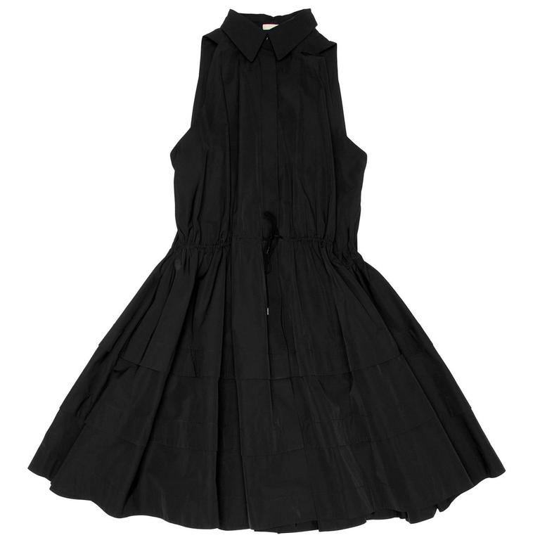 Alaïa Black Cotton Shirt Dress 2
