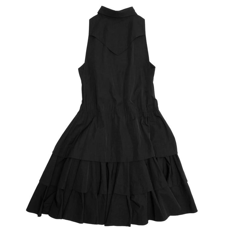 Alaïa Black Cotton Shirt Dress 3