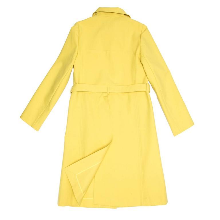 Women's Marni Yellow Rain Coat For Sale
