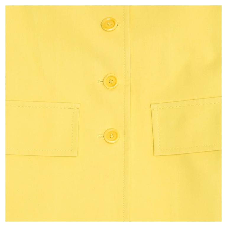 Marni Yellow Rain Coat For Sale 2