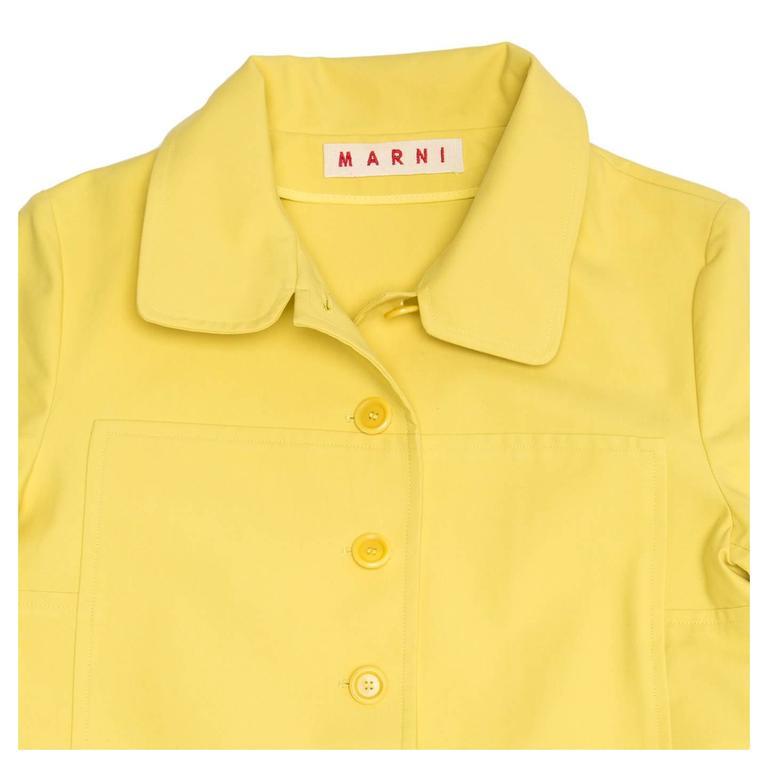 Marni Yellow Rain Coat For Sale 1