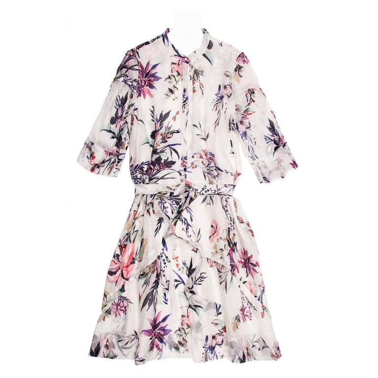 Christian Lacroix Multicolor Floral Shirt Dress