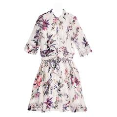Christian Lacroix Multicolor Floral Shirt Dress