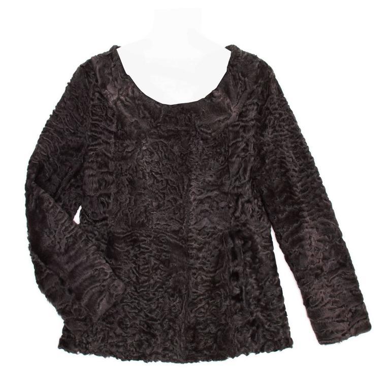 Prada Heather Grey Persian Lamb Jacket
