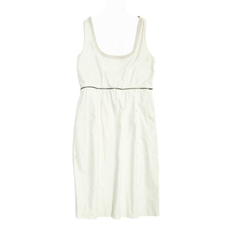 Chloe' Ivory Sleeveless Dress