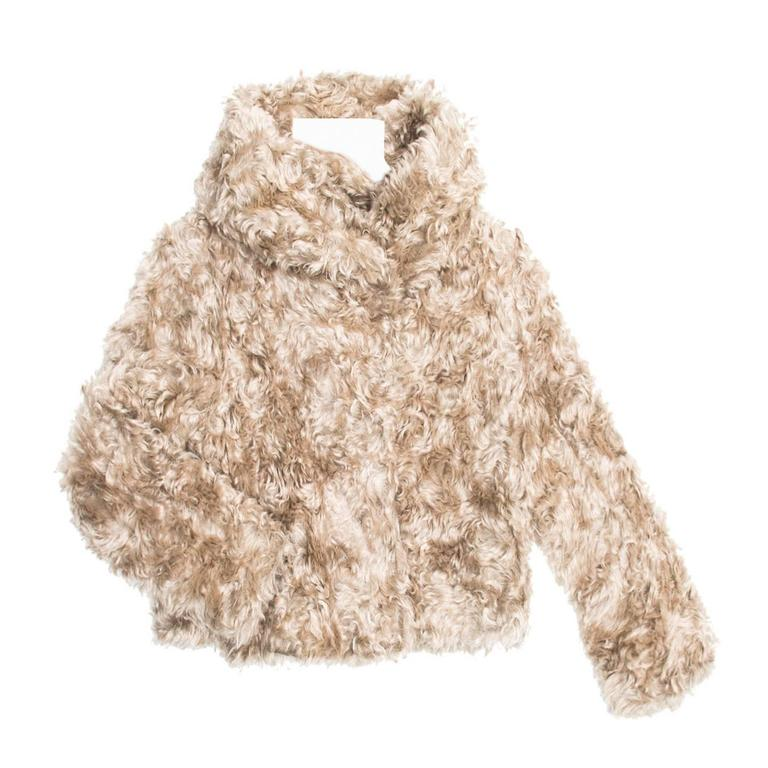 Prada Beige Mohair Cropped Jacket For Sale