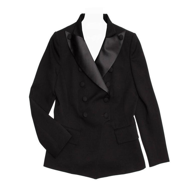 Balmain Black Wool Tuxedo Jacket