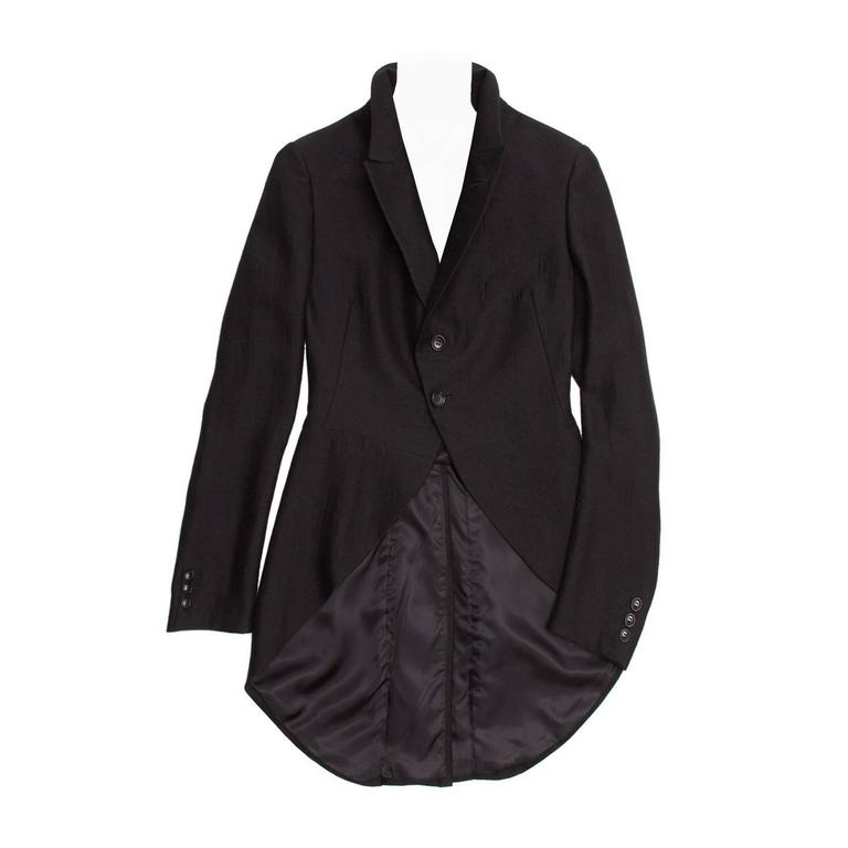 Comme des Garçons Black Wool Horse Riding Blazer For Sale