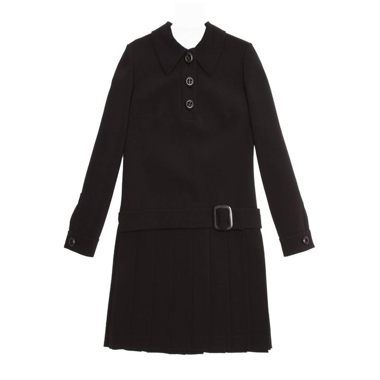 Prada Black Drop Waist Dress