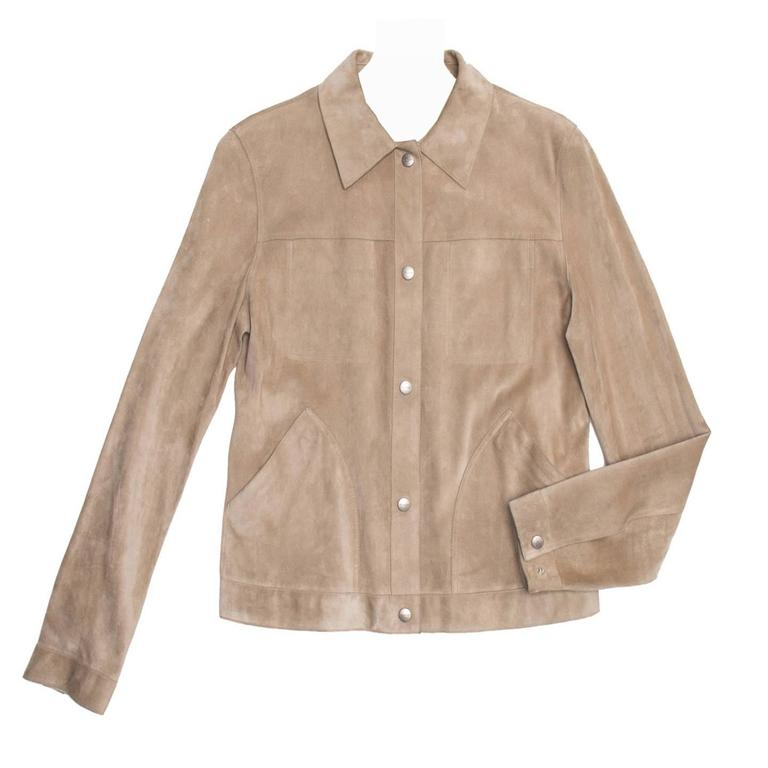 Jil Sander Tan Leather & Suede Reversible Jacket