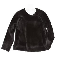 Dries Van Noten Black Kangaroo Fur Jacket