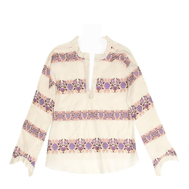 Marni Multicolor Floral Embroideries Tunic For Sale