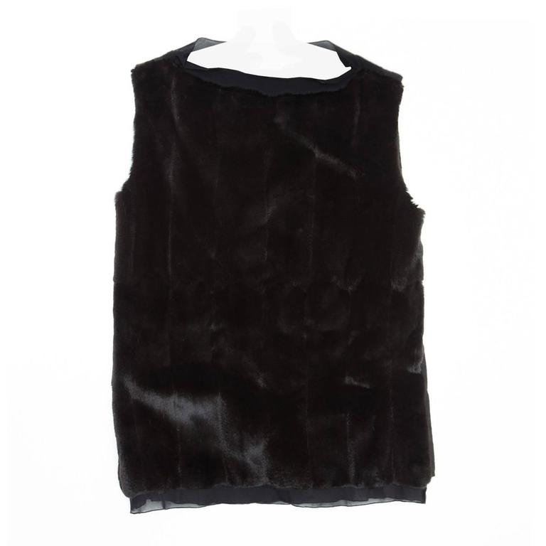 Prada Black Fur & Cashmere Top