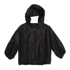 Prada Black Quilted Hooded Bomber Jacket