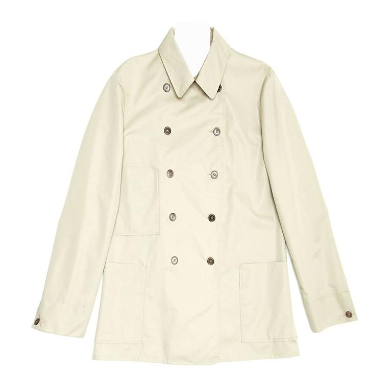 Jil Sander Ecru Double Breasted Raincoat