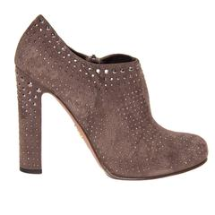 Prada Brown Suede & Crystals Ankle Boots