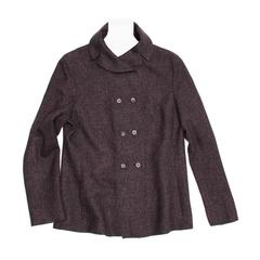 Jil Sander Grey Wool Tweed Jacket