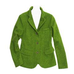 Jil Sander Green Wool Tweed Blazer