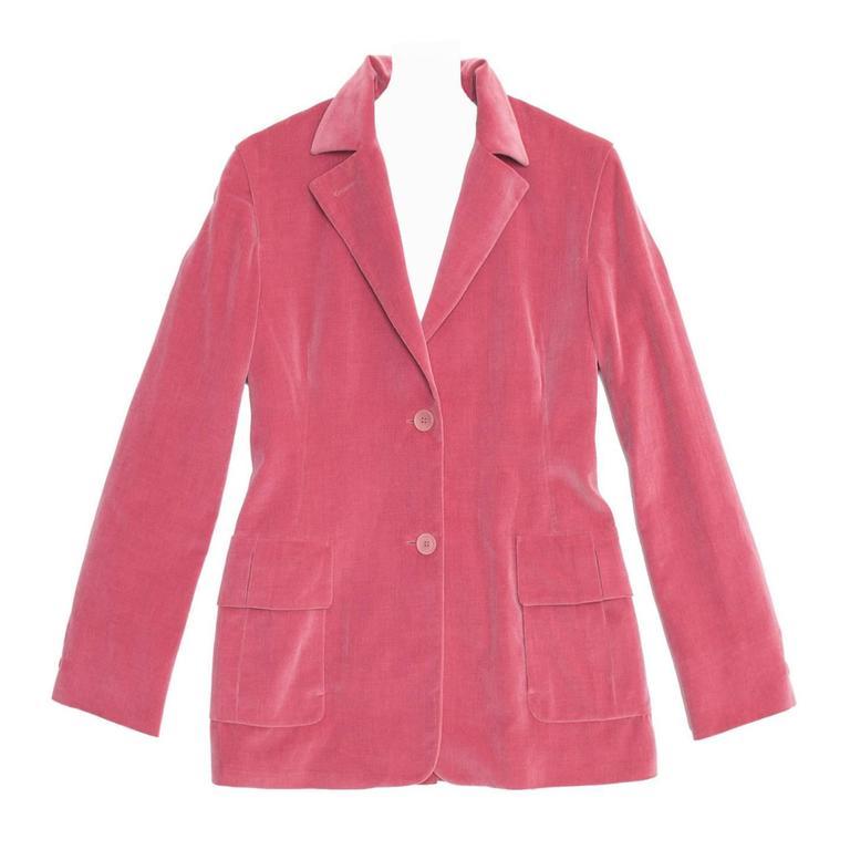 Jil Sander Pink Velvet Blazer