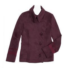 Alexander McQueen Burgundy Cashmere Peacoat Jacket