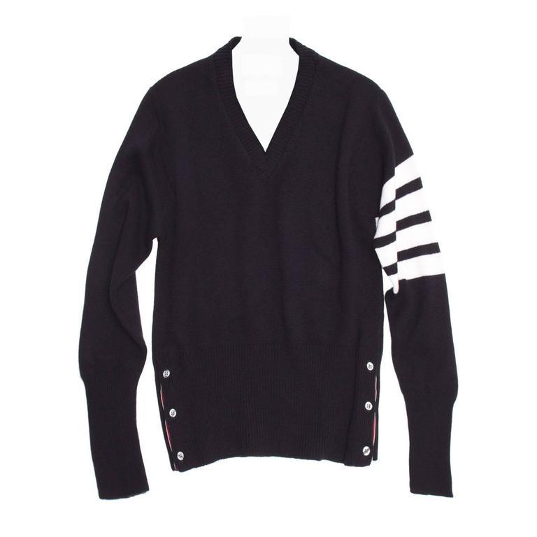 Pullover Sale For Browne Navy Cashmere V Thom Neck qwBzg7qU