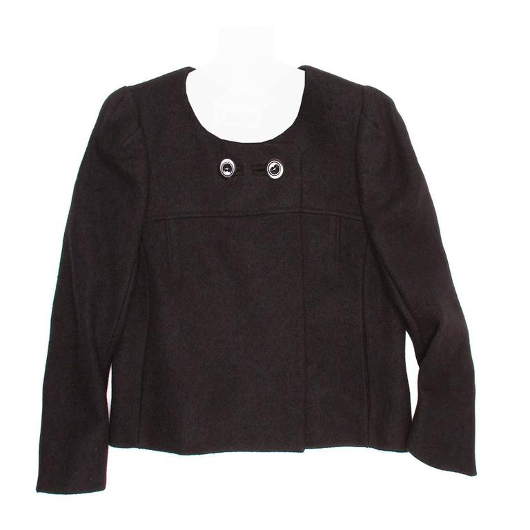Chloe' Black Wool Cropped Blazer