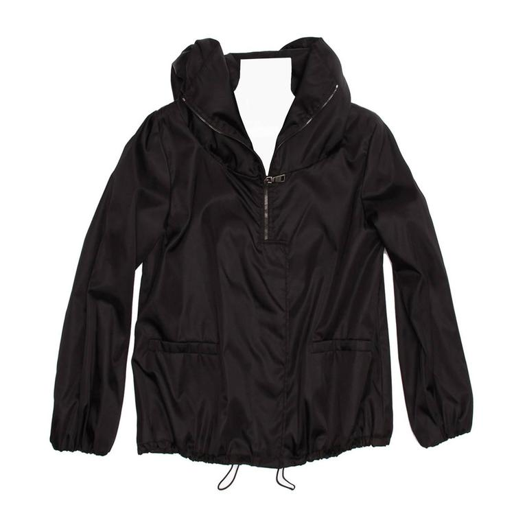 Prada Black Insulated Hooded Windbreaker
