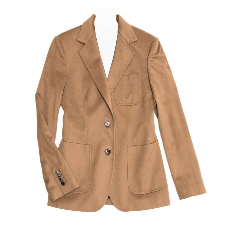 Dolce & Gabbana Tan Cashmere Blazer