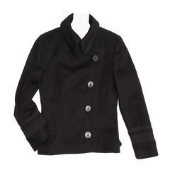 Alexander McQueen Black Cashmere Peacoat