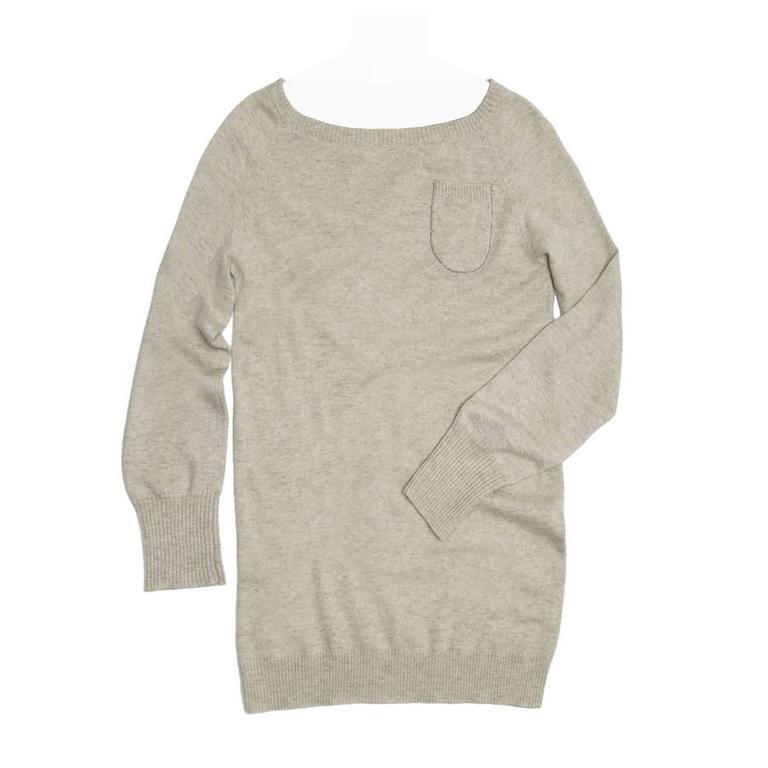 Brunello Cucinelli  Grey Cashmere Long Sweater