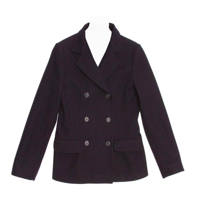 Jil Sander Navy Wool Double Breasted Jacket