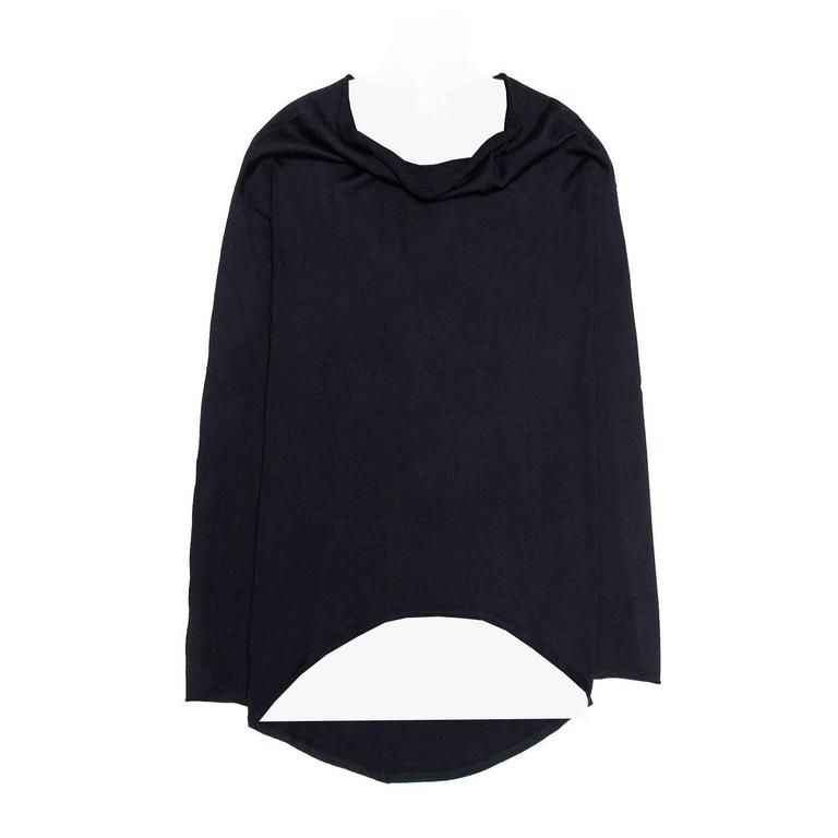 Brunello Cucinelli  Navy Cashmere Long Sweater