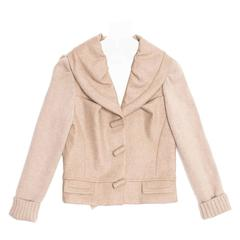 Louis Vuitton Ecru Cashmere Cropped jacket