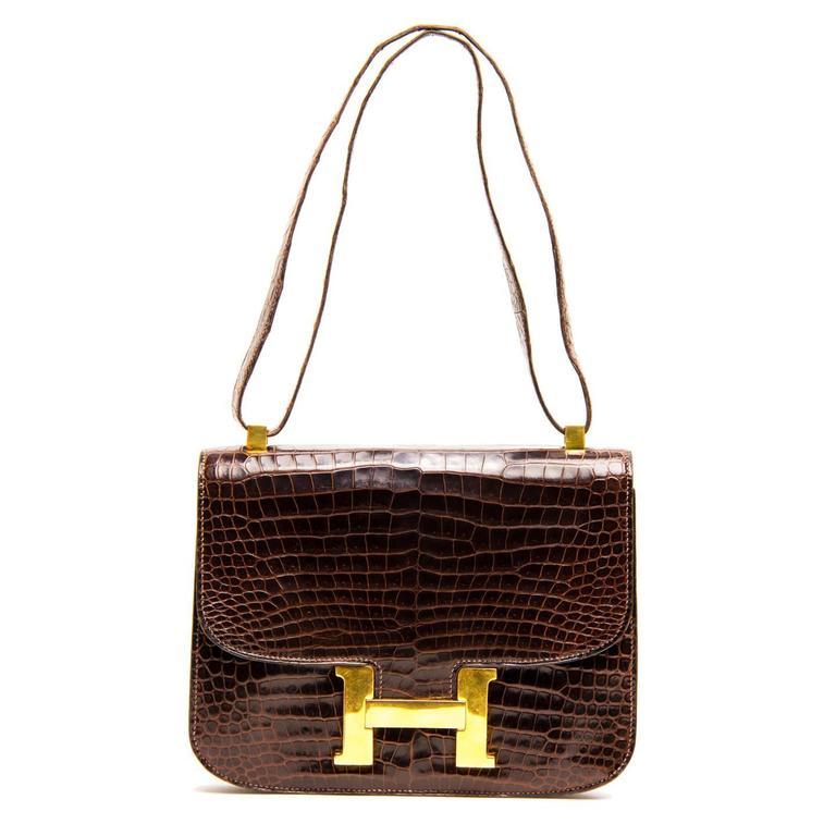 Hermès Brown Crocodile Constance 23cm Bag 2