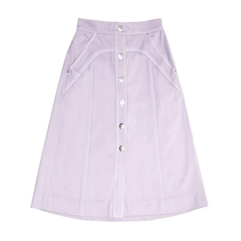Louis Vuitton Lavender Cotton Skirt