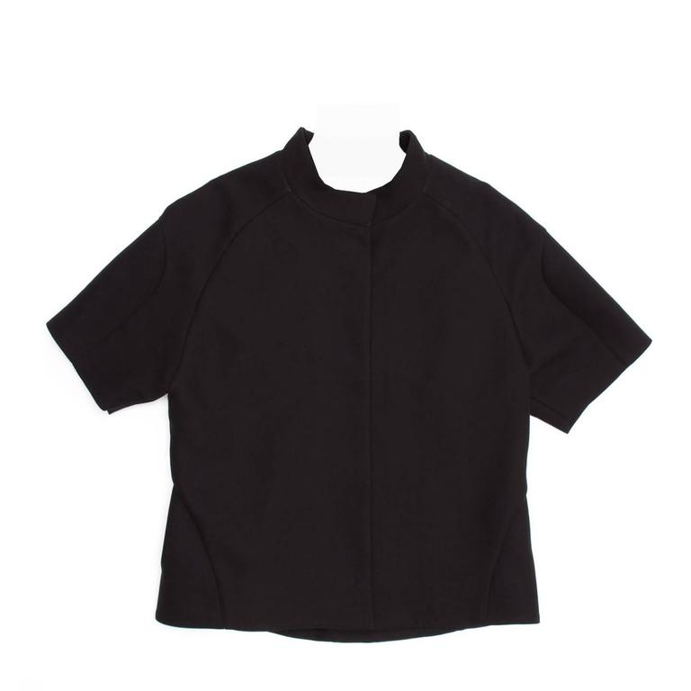 Marni Black Cropped Cotton Jacket