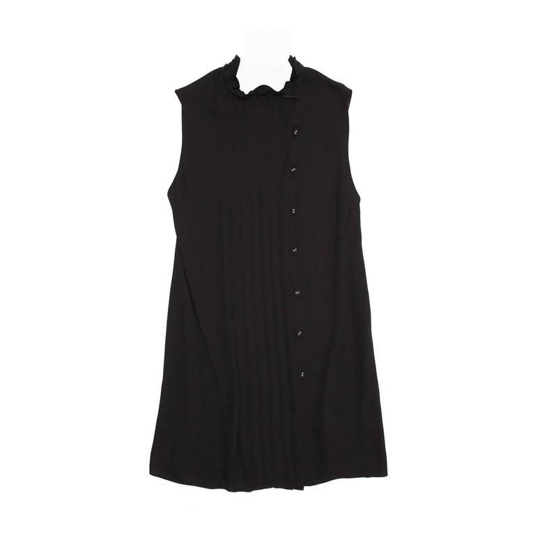 Prada Black Pleated Shift Dress
