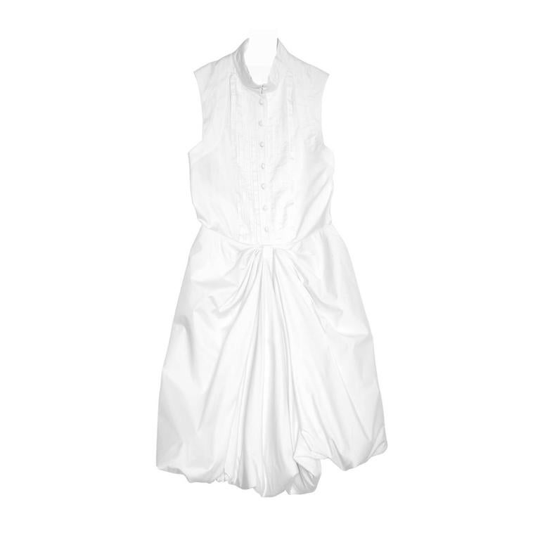 Proenza Schouler White Cotton Sleeveless Shirt Dress