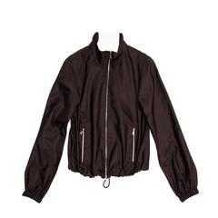 Prada Brown Silk Windbreaker Jacket